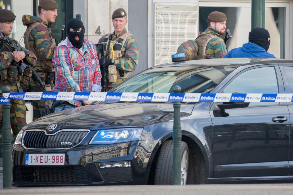 Bezpečnostní opatření před soudem v Bruselu
