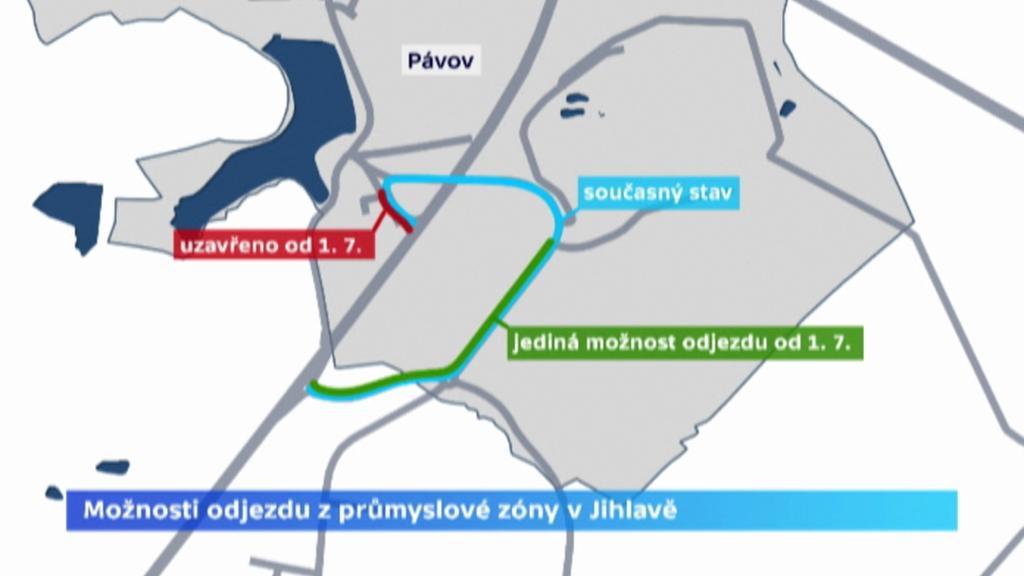 Možnosti odjezdu z jihlavské průmyslové zóny
