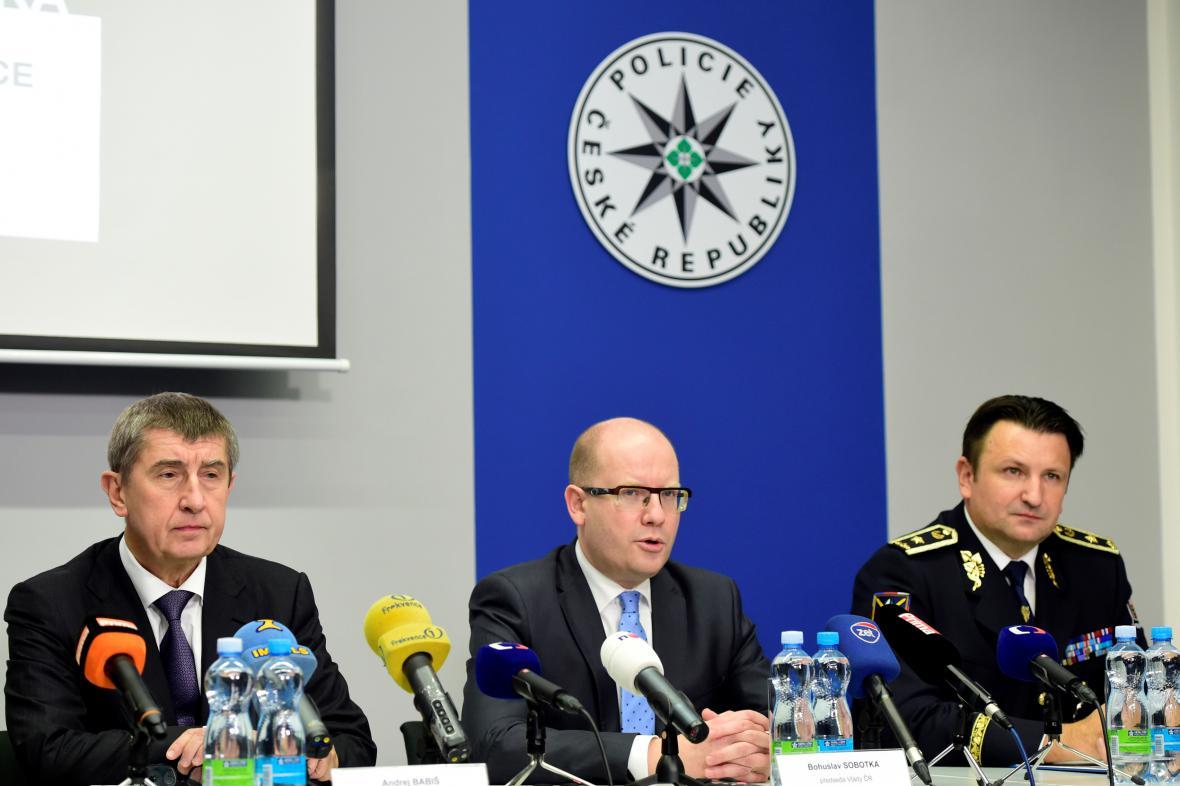 Andrej Babiš, Bohuslav Sobotka, Tomáš Tuhý