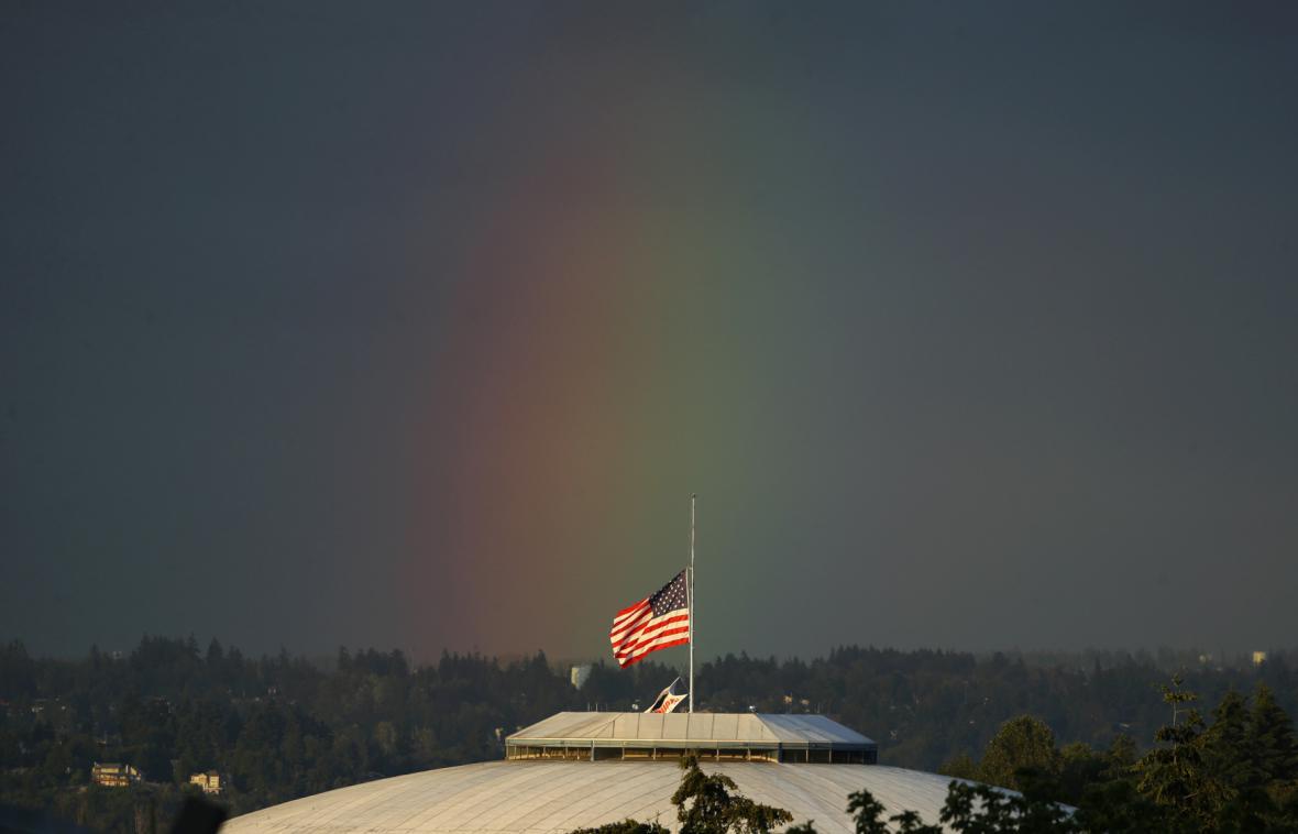 Duhové barvy nad Washingtonem