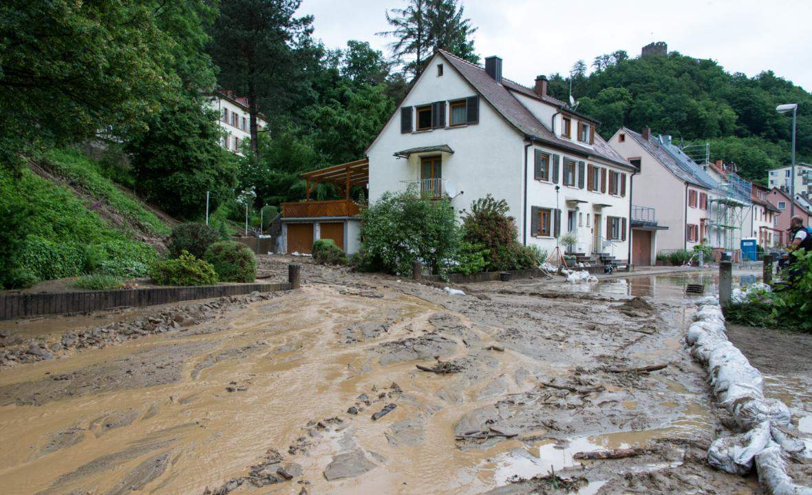 Sesuv půdy ve Waldkirchu