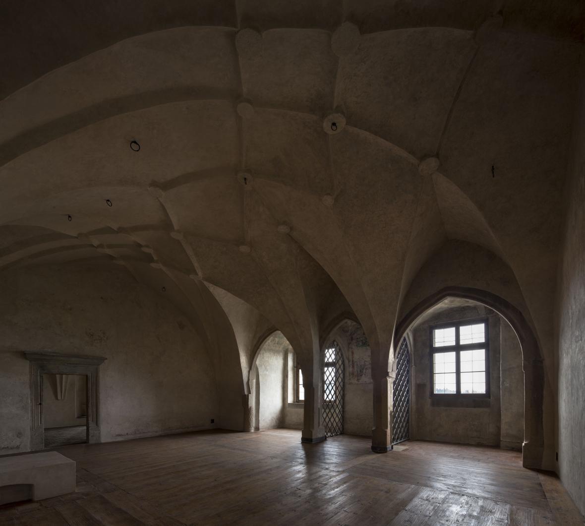 Obnova interiéru hradu Lipnice nad Sázavou