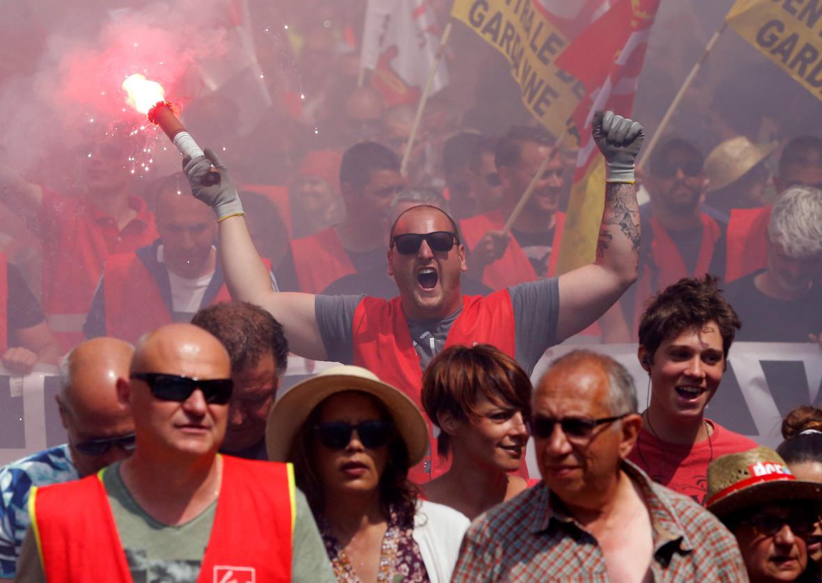 Demonstrace v Marseilli