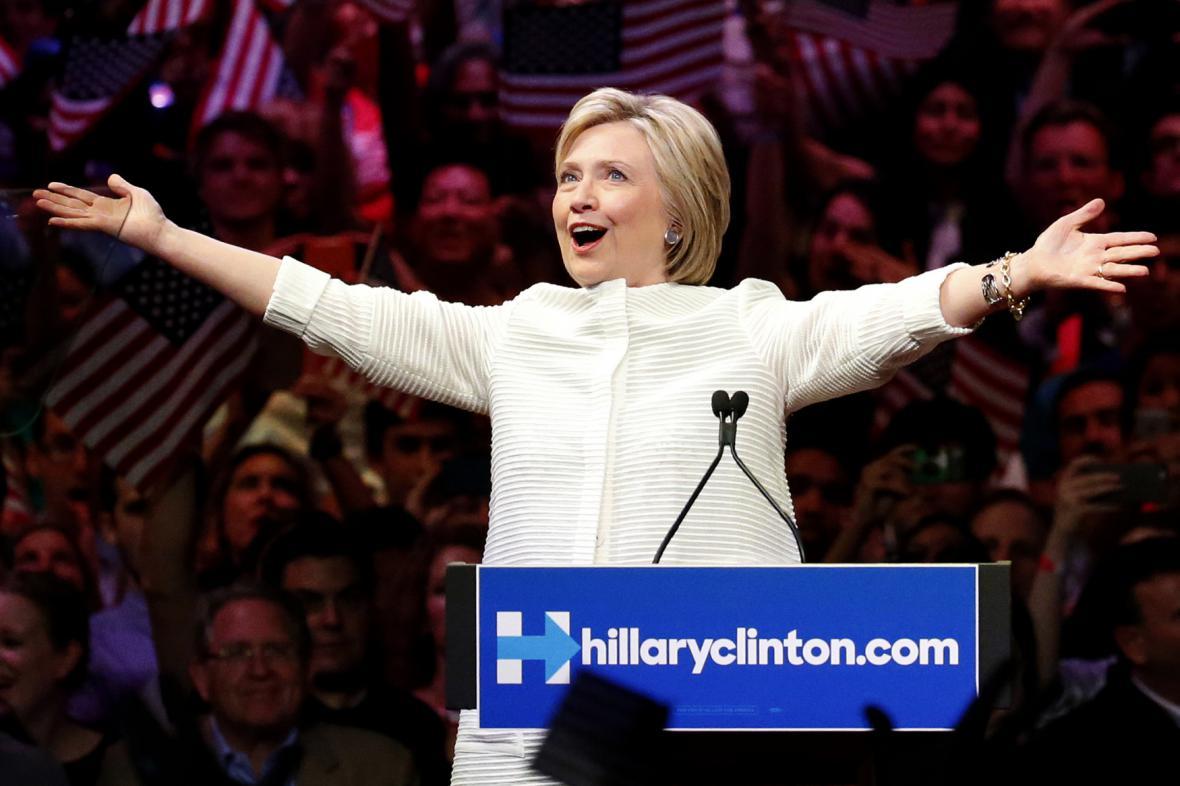 Hillary Clintonová v New Yorku
