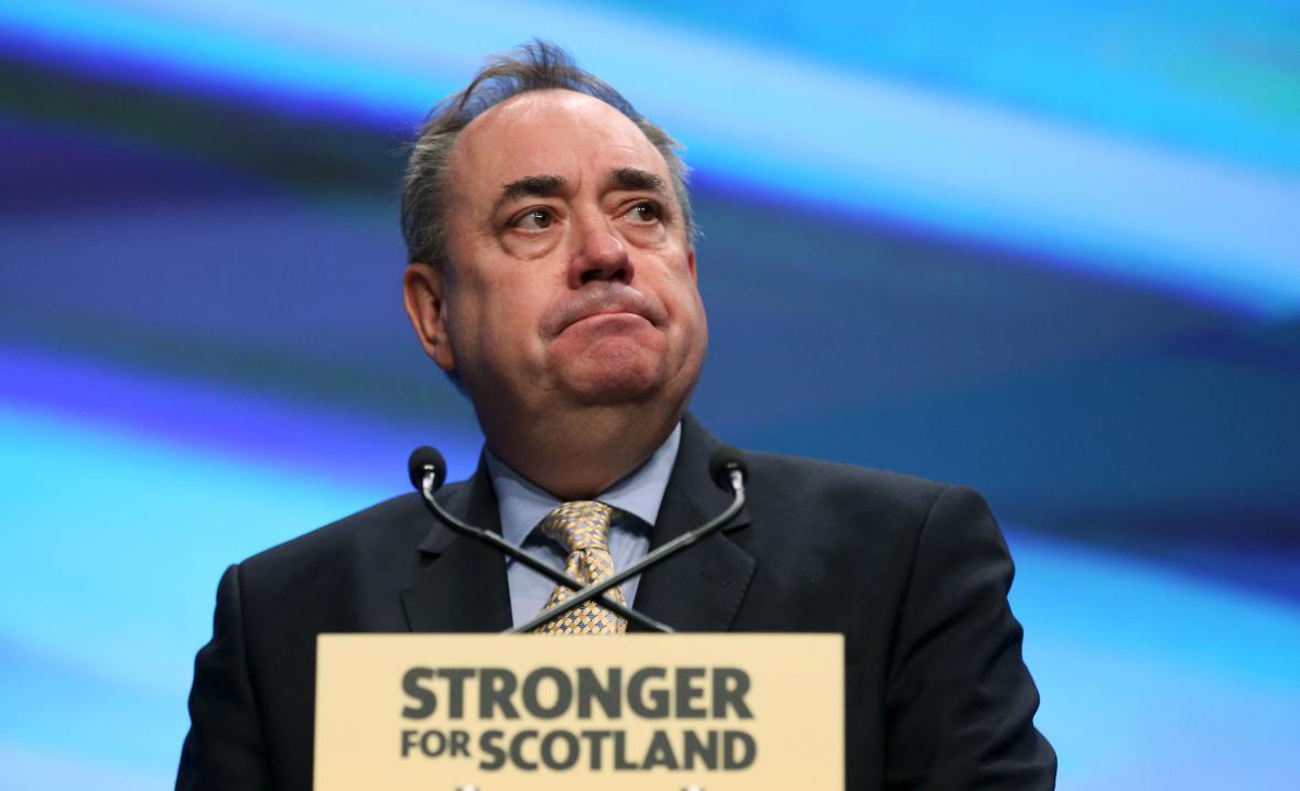 Bývalý skotský premiér Alex Salmond