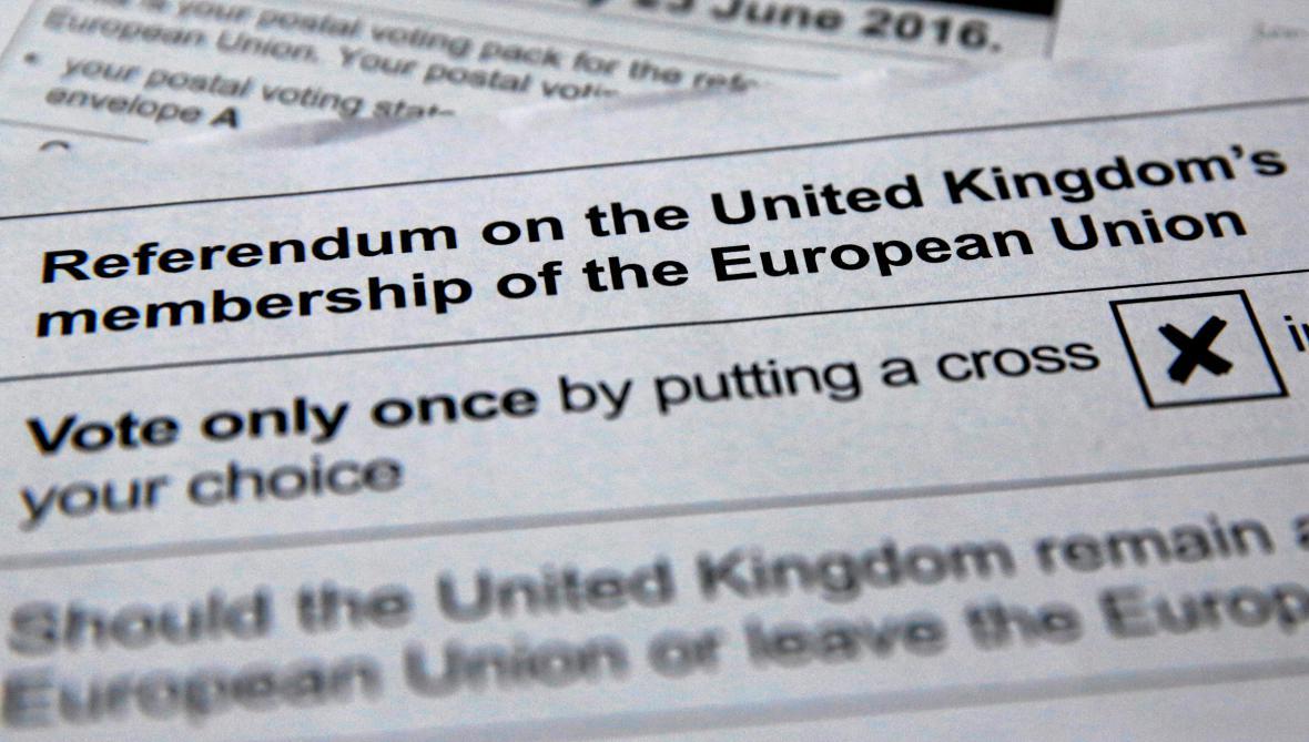 Přípravy na britské referendum