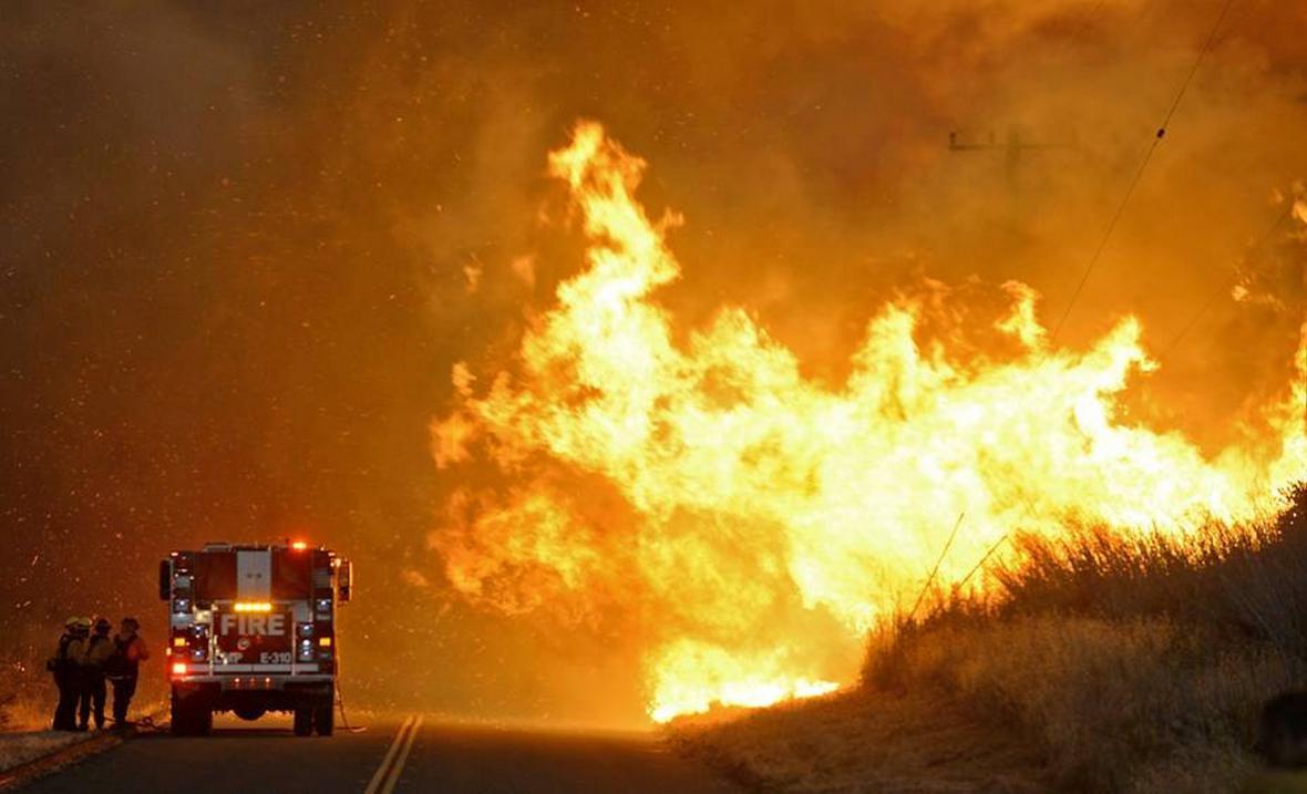Požár v Santa Barbaře