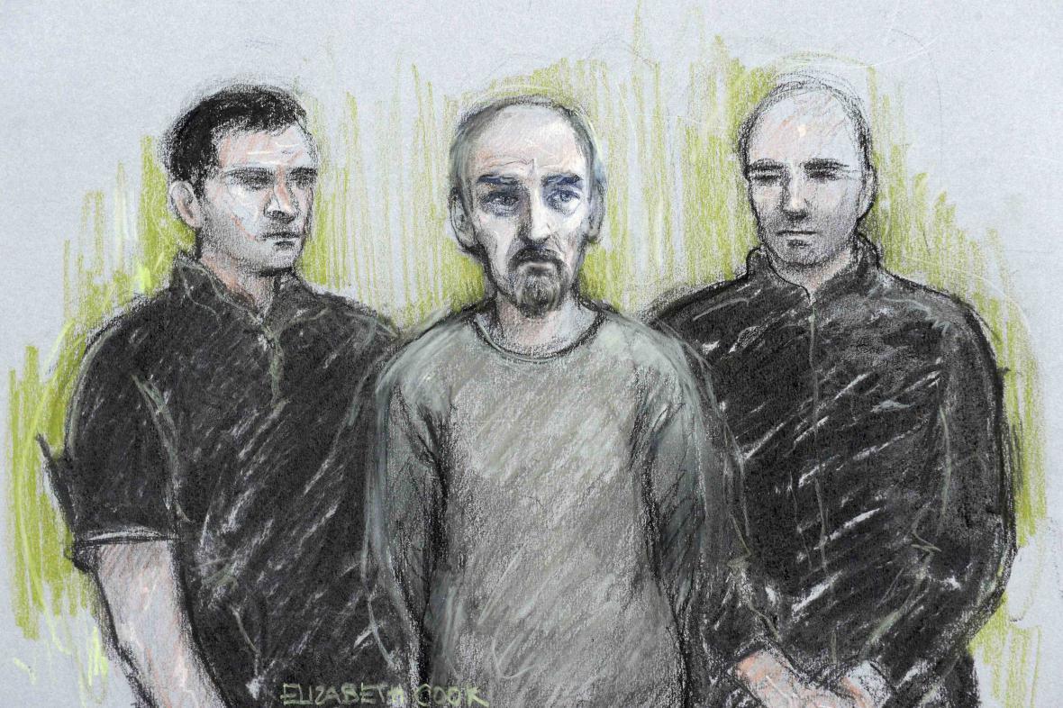 Portrét Thomase Maira (uprostřed)