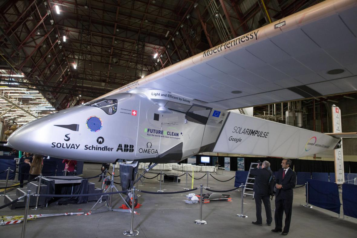 Letoun Solar Impulse 2 v New Yorku