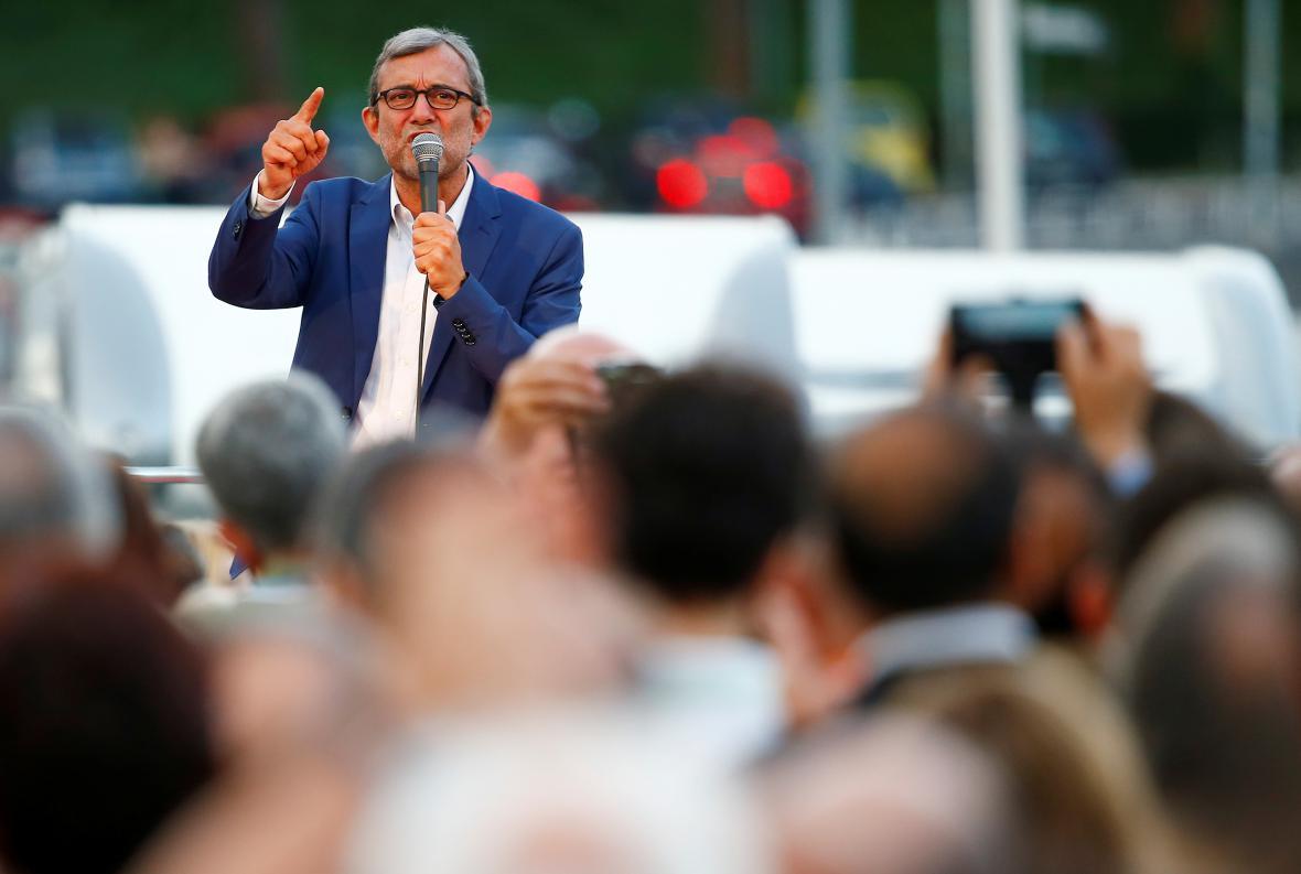 Kandidát Demokratické strany na post starosty Říma Roberto Giachetti