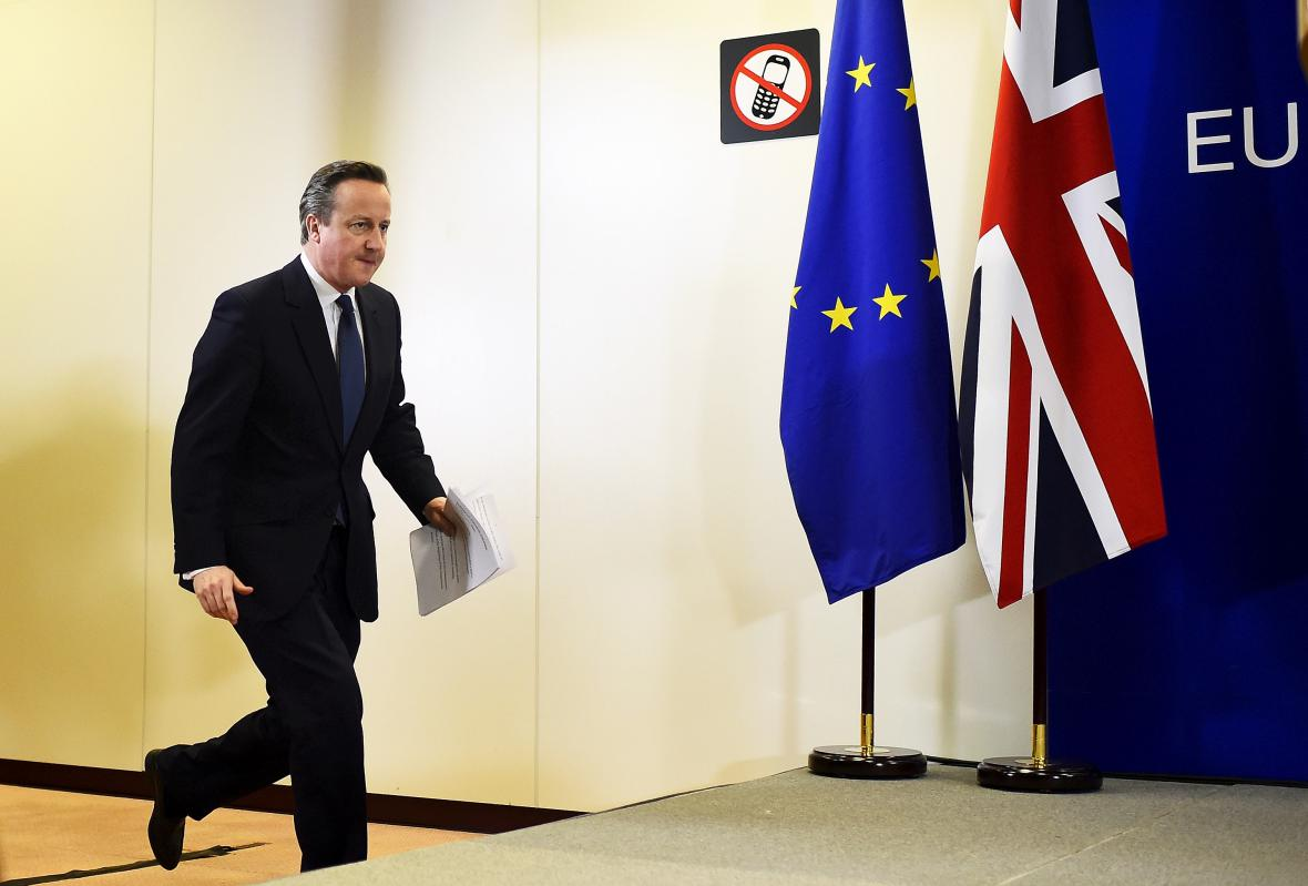 David Cameron na summitu v Bruselu