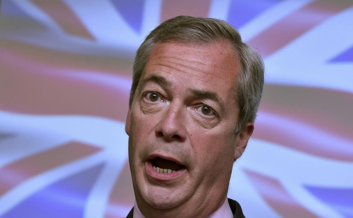 Šéf euroskeptické strany UKIP Nigel Farage
