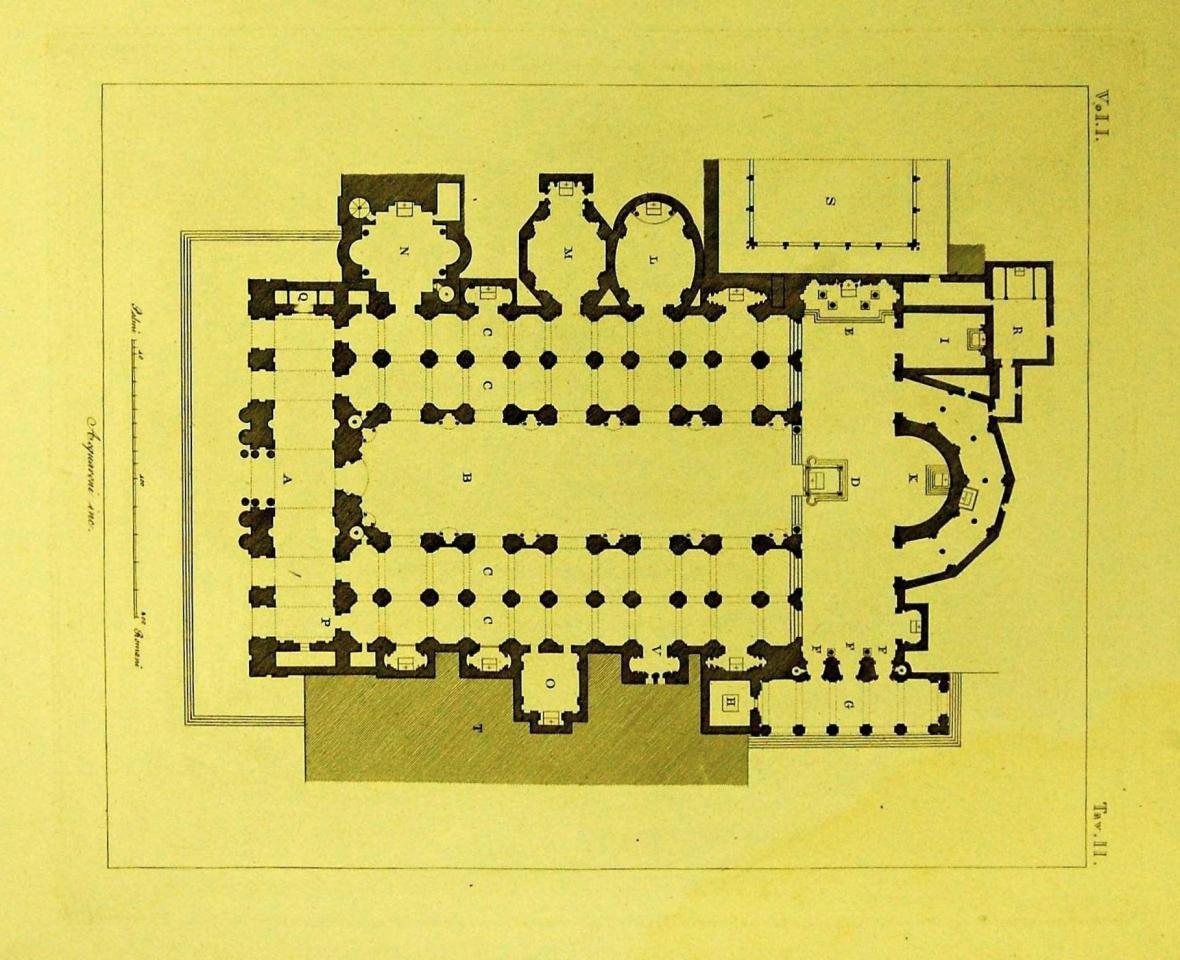 Půdorys gotického chrámu