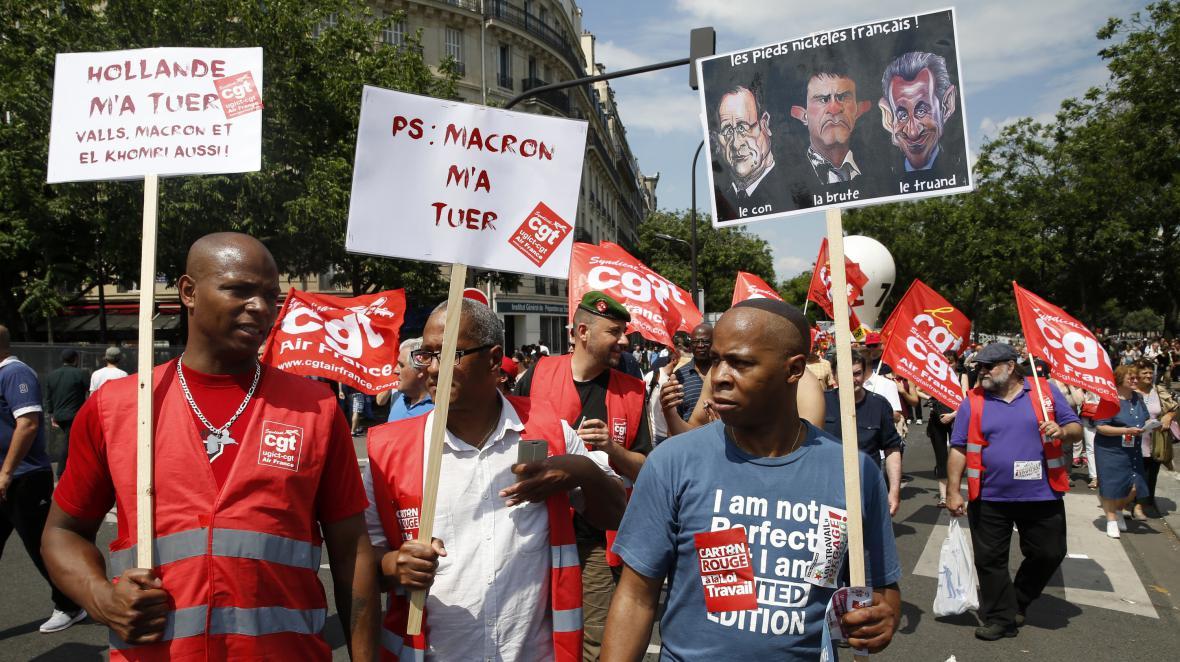 Protesty v Paříží