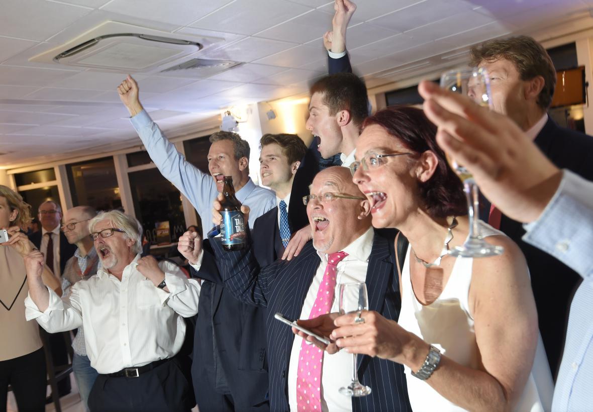 Zastánci odchodu z EU reagují na výsledky v Sunderlandu