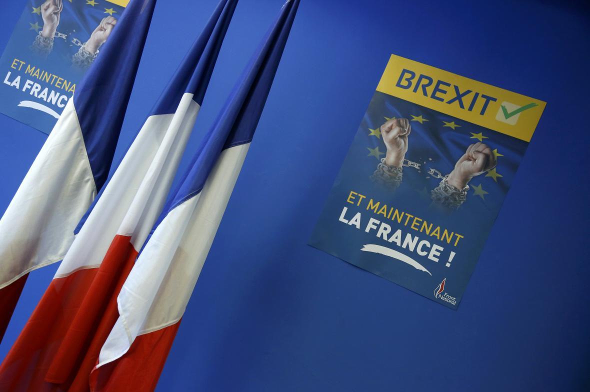 Francouzští nacionalisté volají po brexitu