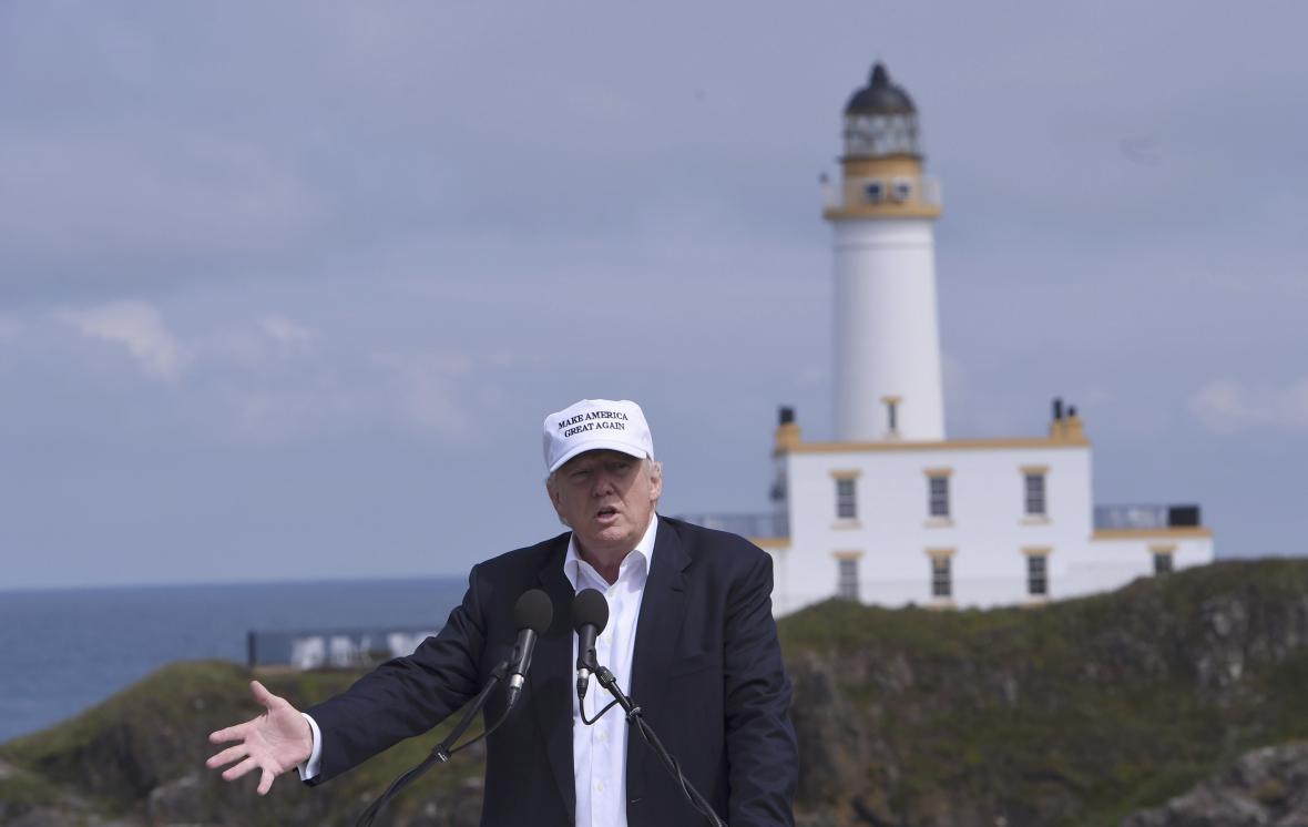 Donald Trump ve Skotsku