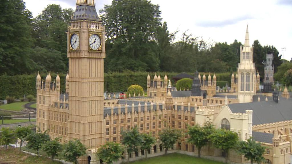 Miniatura Westminsteru v bruselském parku