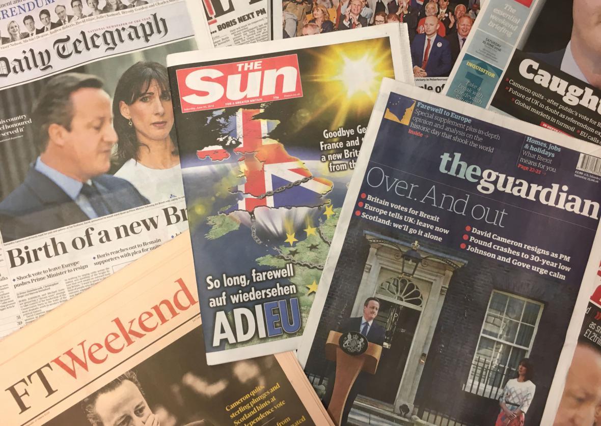 Britský tisk o brexitu