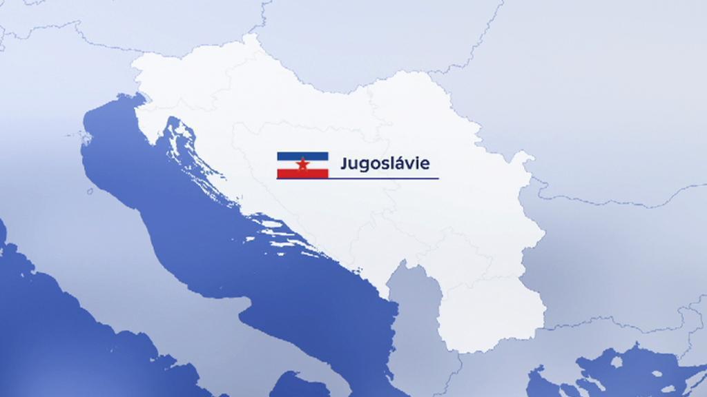 Mapa Jugoslávie