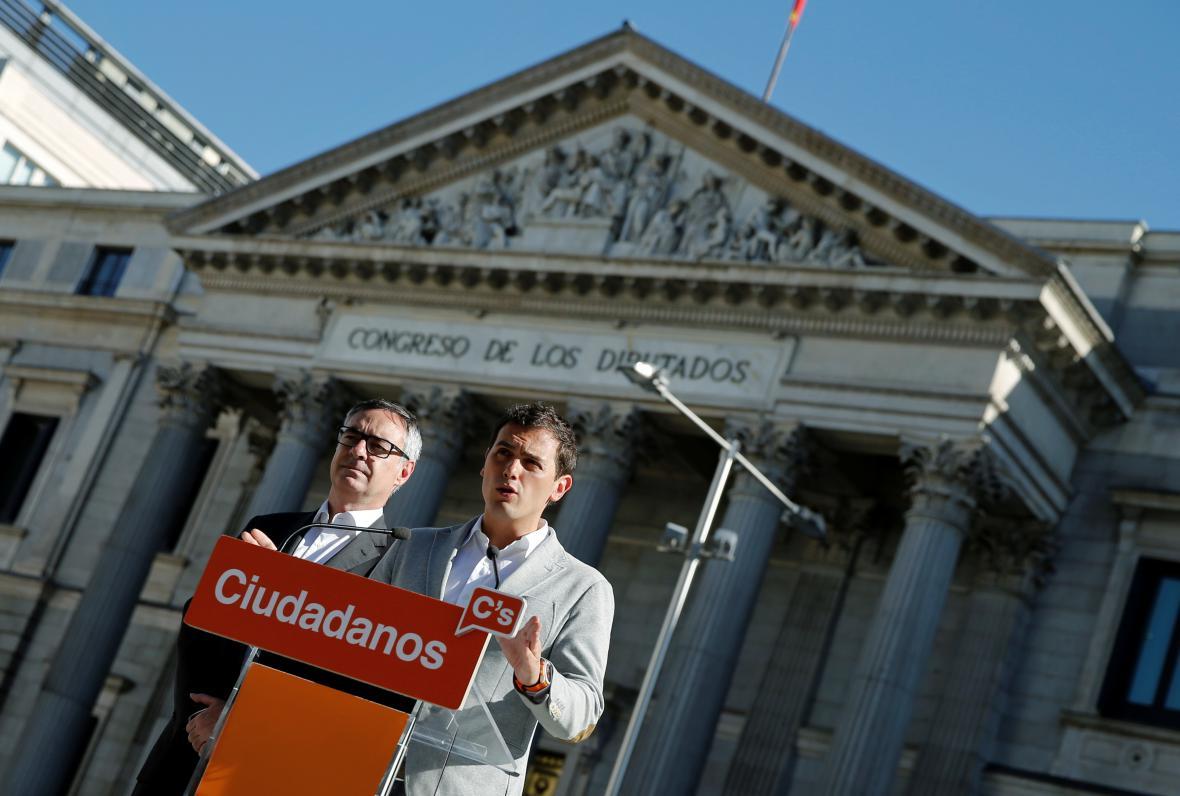 Předáci středopravicové strany Ciudadanos