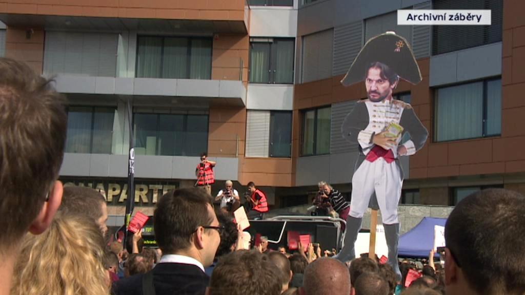 Dřívější protest proti Kaliňákovi