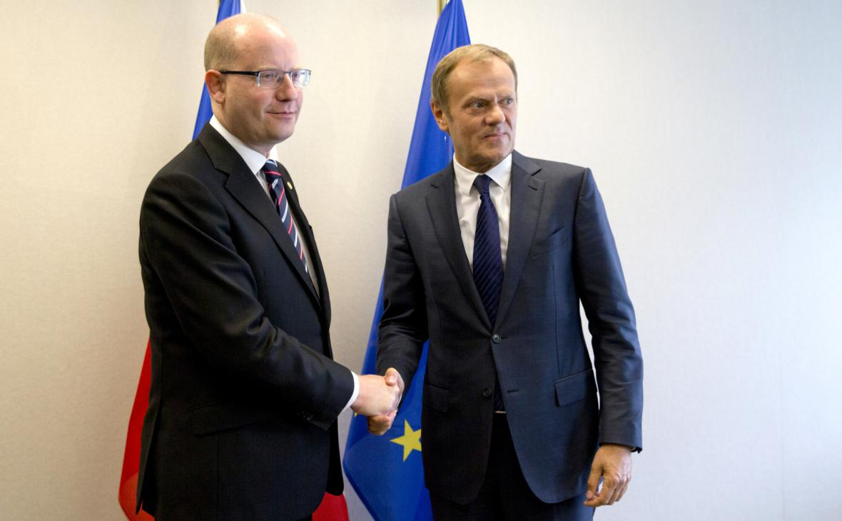 Bohuslav Sobotka s Donaldem Tuskem