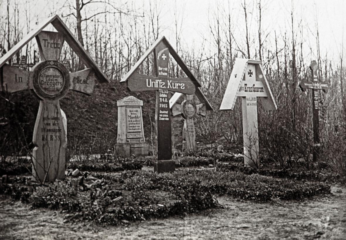 Bitva na Sommě - německé hroby