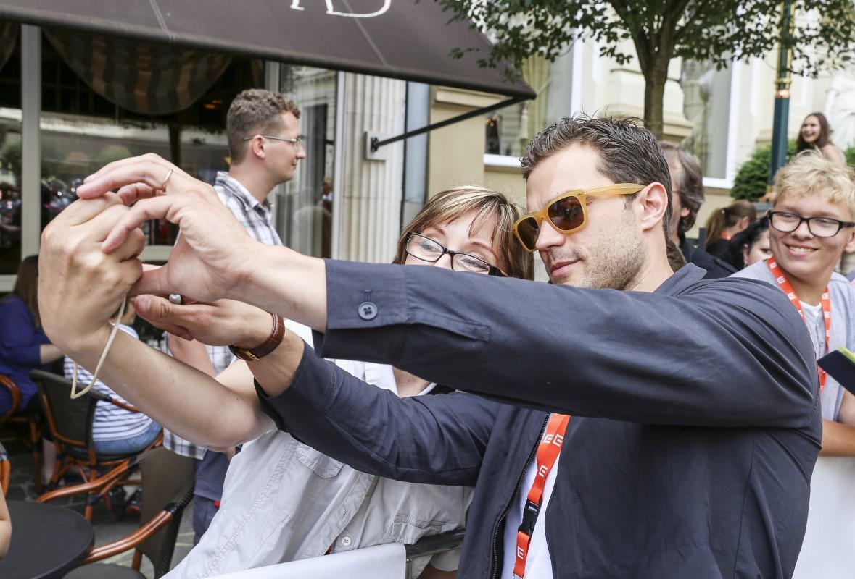 Herec Jamie Dornan na 51. MFF Karlovy Vary