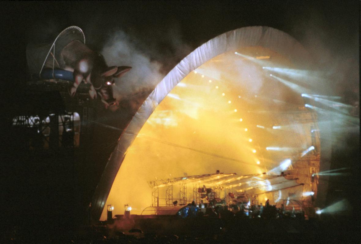 Koncert Pink Floyd na Strahově