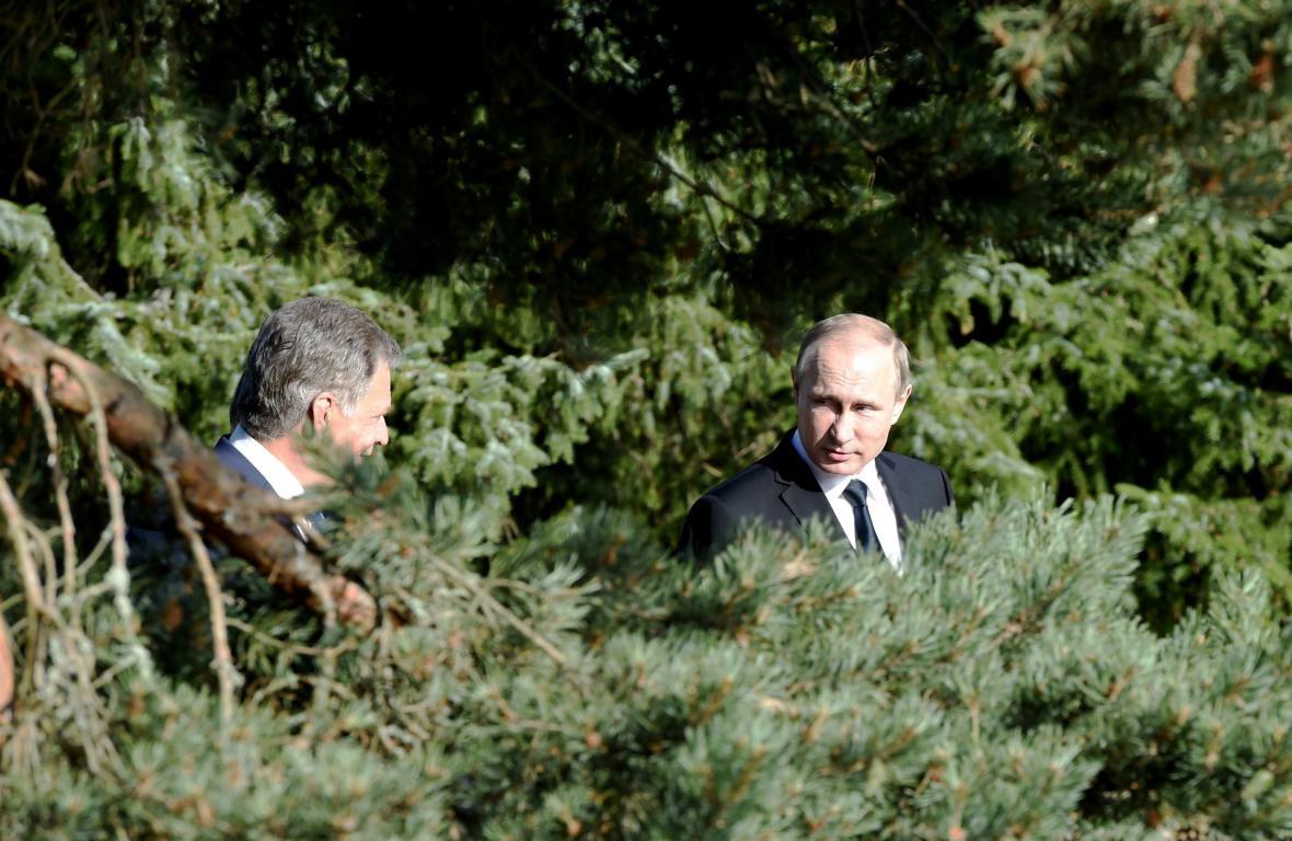 Vladimir Putin se svým finským protějškem