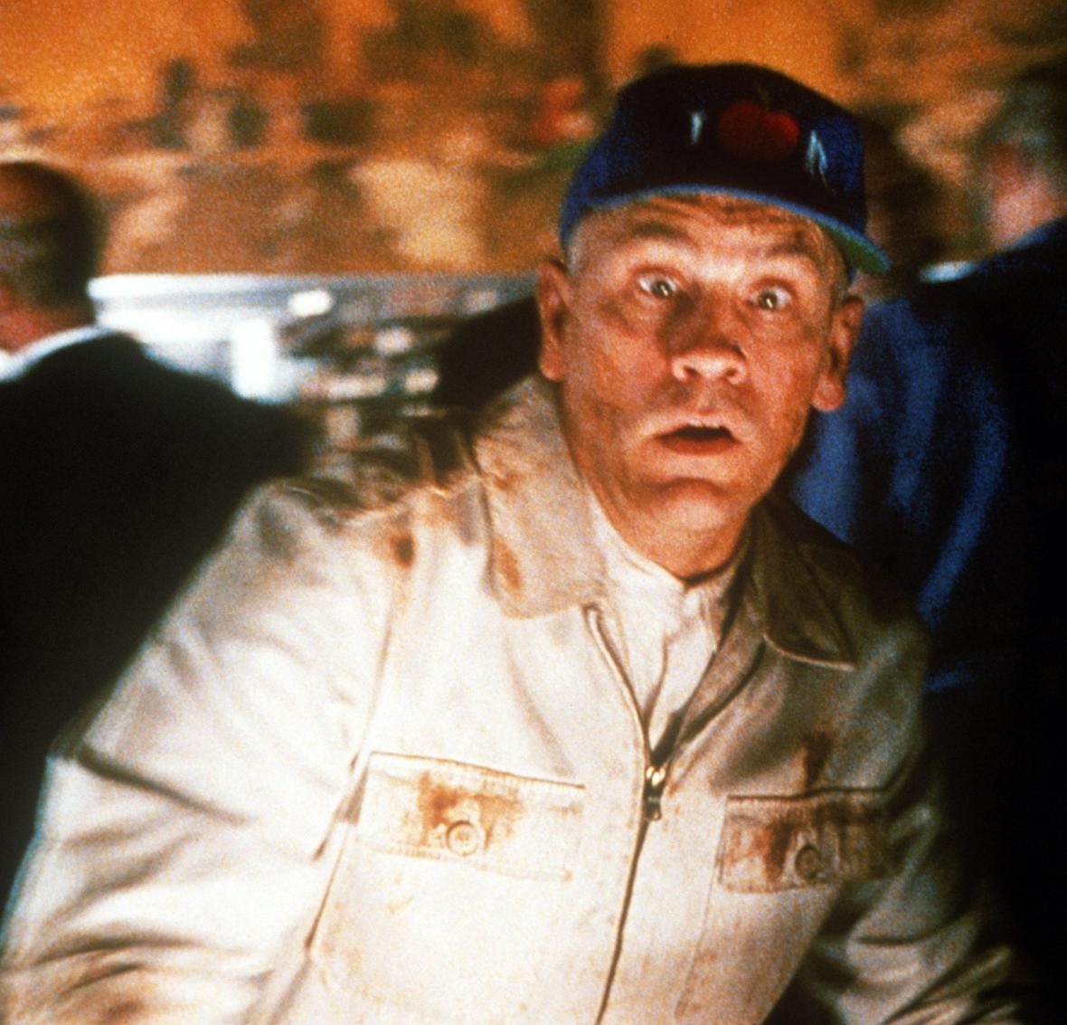 John Malkovich při natáčení filmu  V kůži Johna Malkoviche