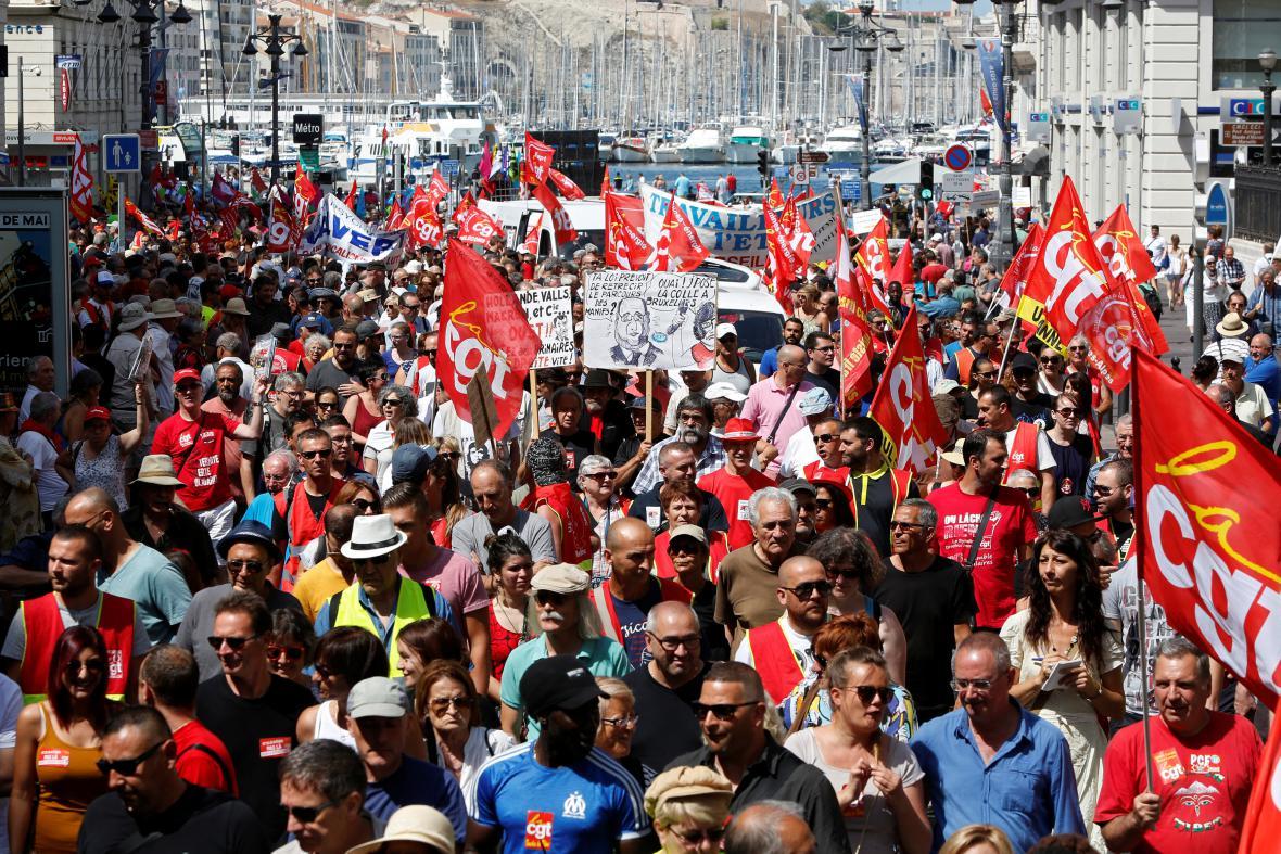 Protesty proti reformě zákoníku práce