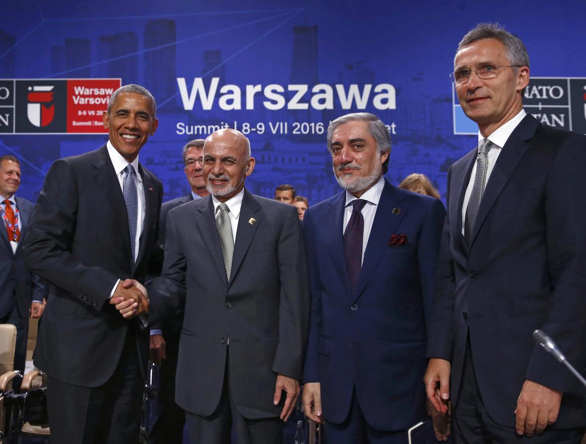 Barack Obama s afghánským prezidentem Ašrafem Ghaním