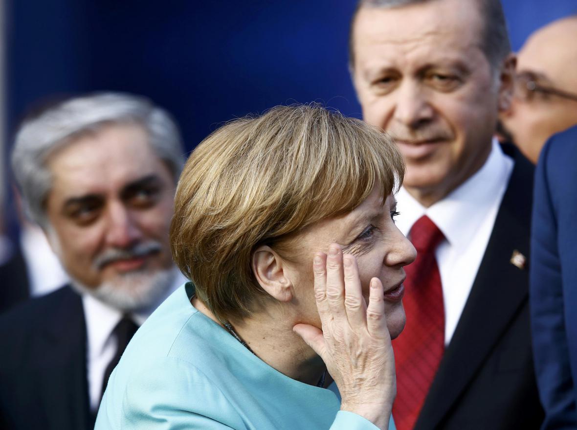 Angela Merkelová na summitu ve Varšavě
