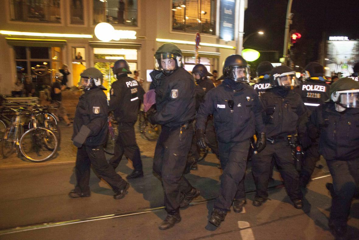 Protest krajní levice v Německu