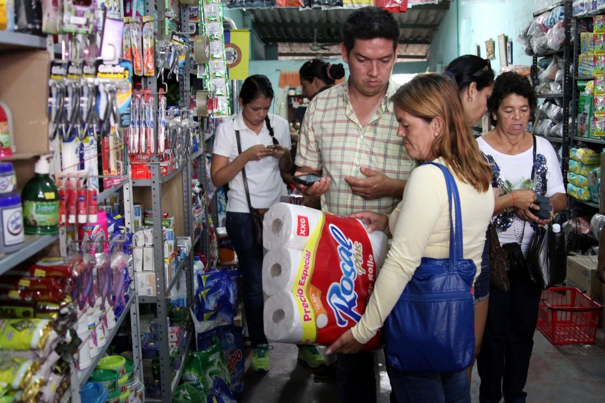 Potraviny, léky a hygienické potřeby... ve Venezuele nedostatkové zboží