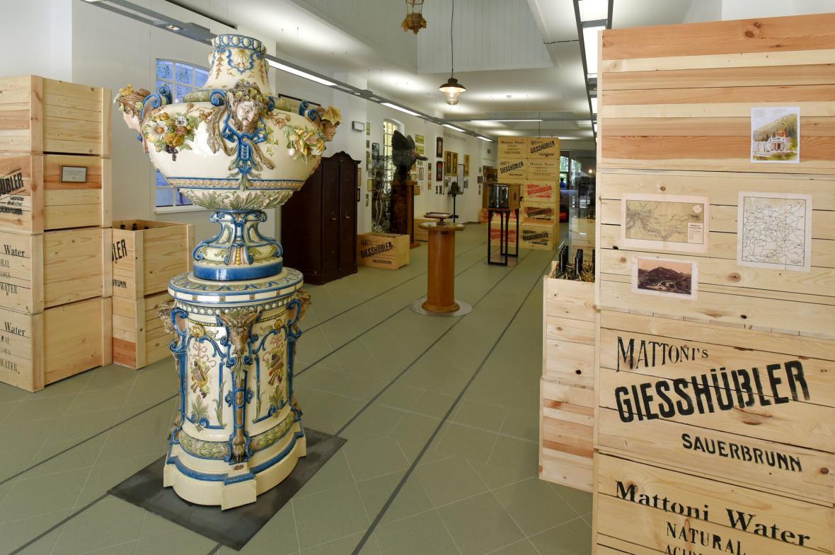 Muzeum stáčení minerálních vod a značky Mattoni v Kyselce