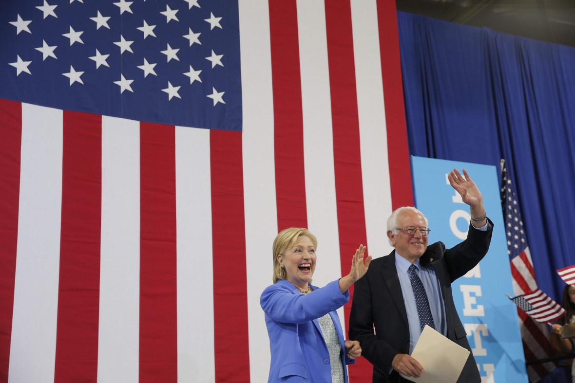 Hillary Clintonová a Bernie Sanders