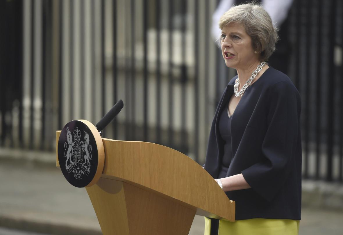 Theresa Mayová během svého prvního premiérského projevu