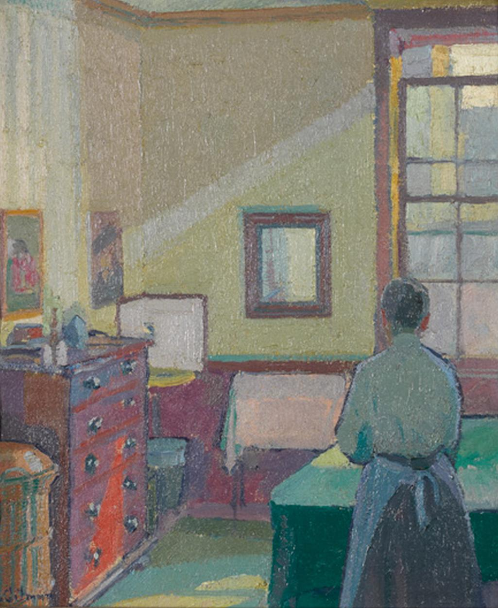 Harold Gilman, Interiér (paní Mounterová), 1917.