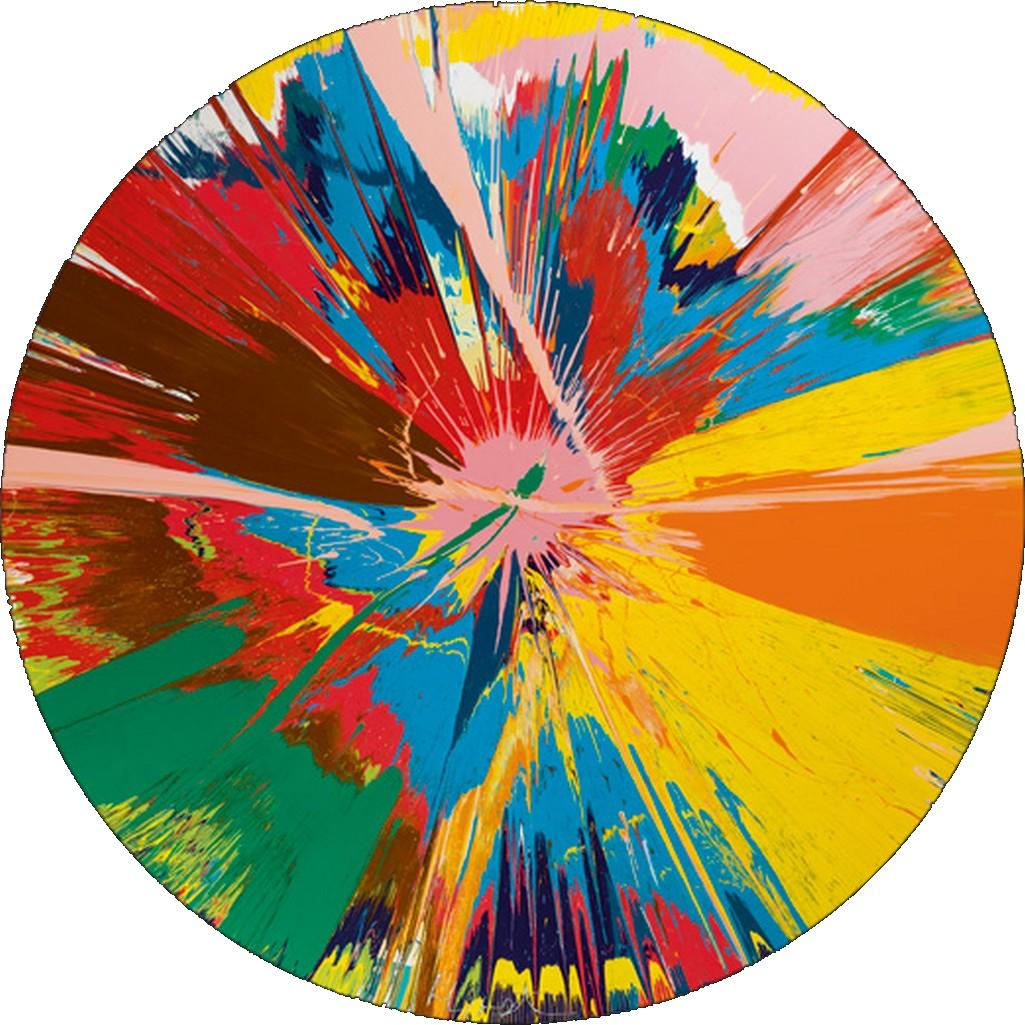 Damien Hirst / Beautiful, shattering, slashing, violent, pinky, hacking, sphincter painting, 1995