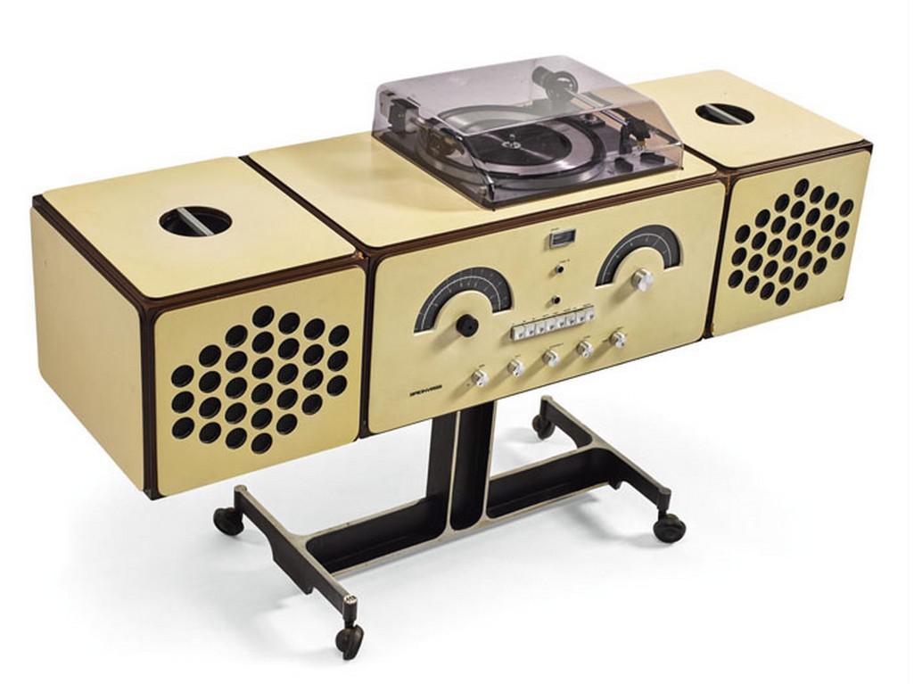 Pier Giacomo a Achille Castiglioni / radiofonograf Brionvega, model č. RR 126, 1965