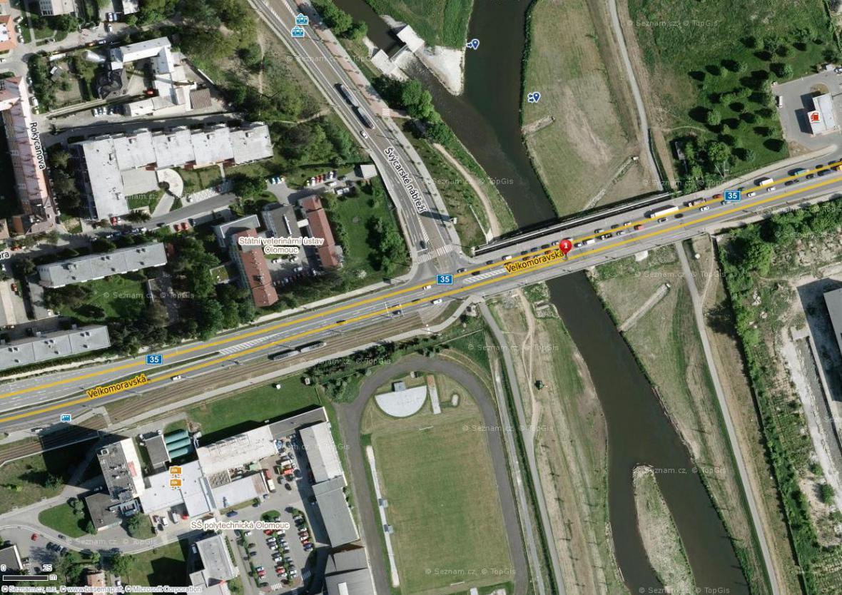 Most ve Velkomoravské ulici opraví