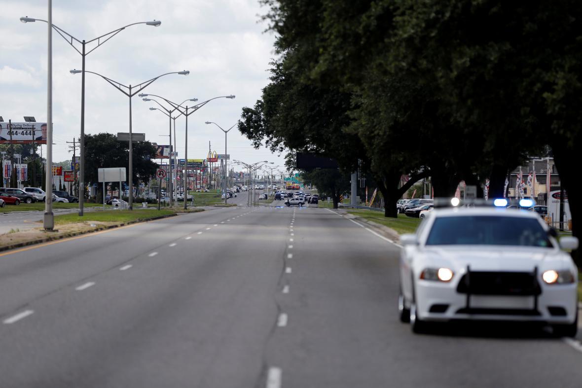 Místo incidentu v americkém Baton Rouge