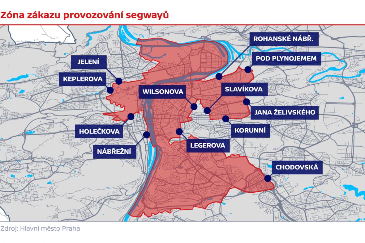 Zóna zákazu provozování segwayů