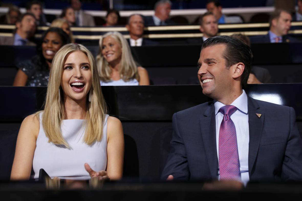 Ivanka Trump a Donald Trump Jr.