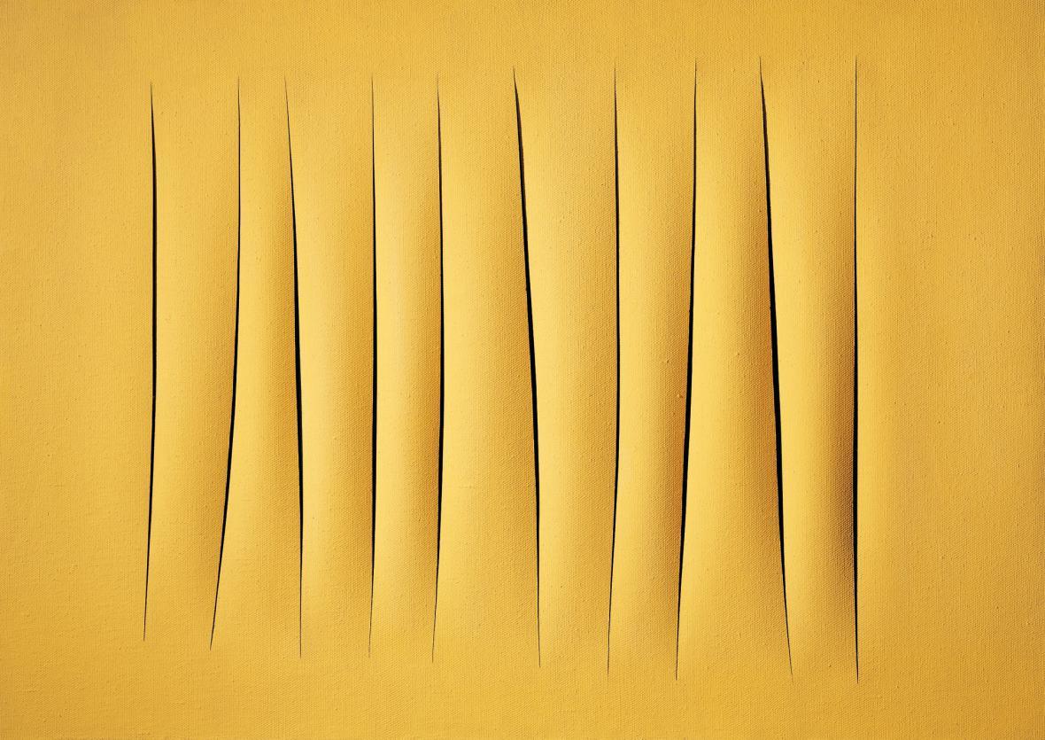 Lucio Fontana / Prostorový koncept, očekávání, 1964