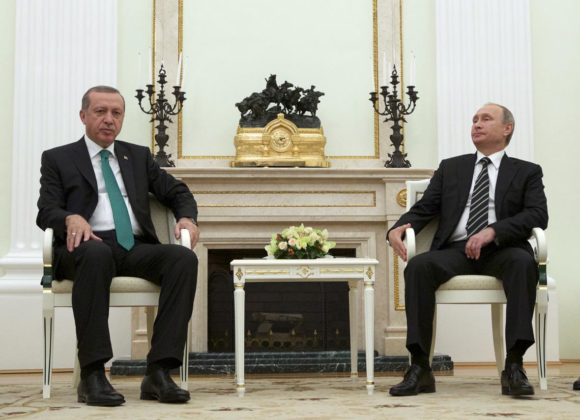 Turecký a ruský prezident na společném jednání