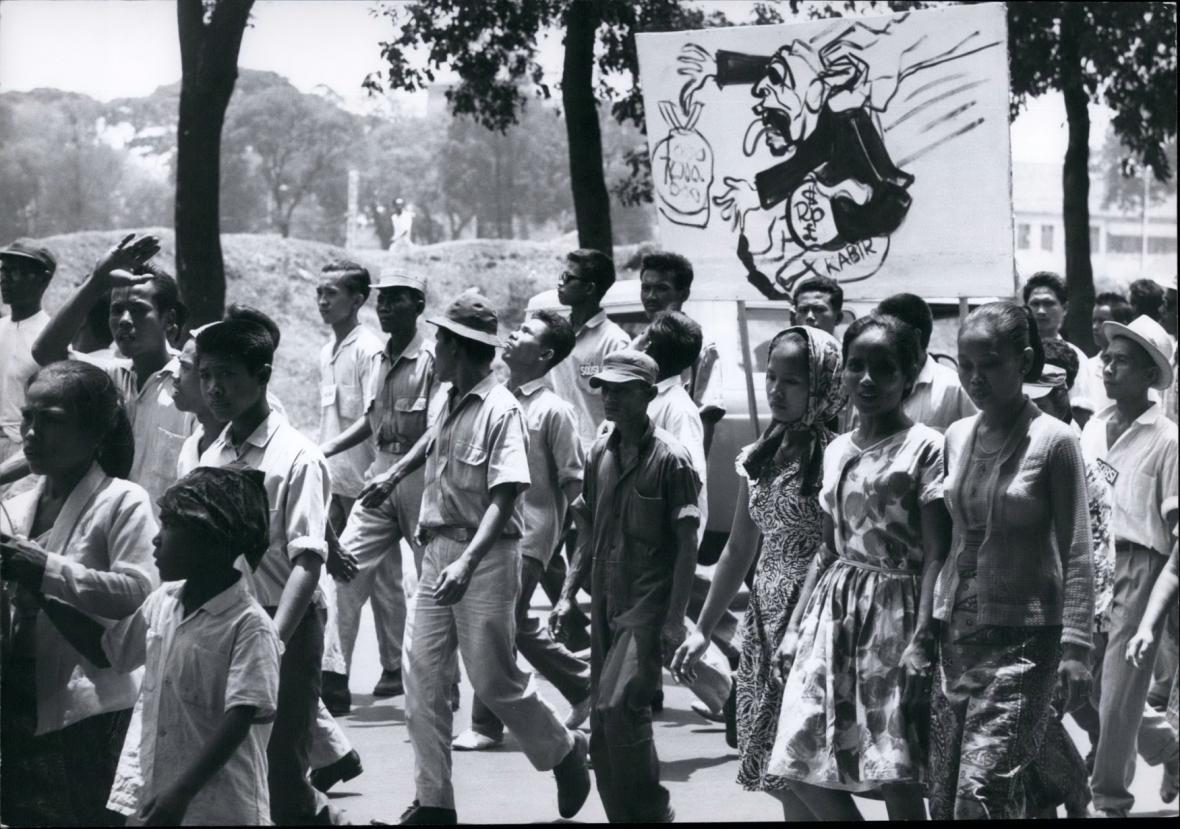 Demonstrace zastánců komunistů